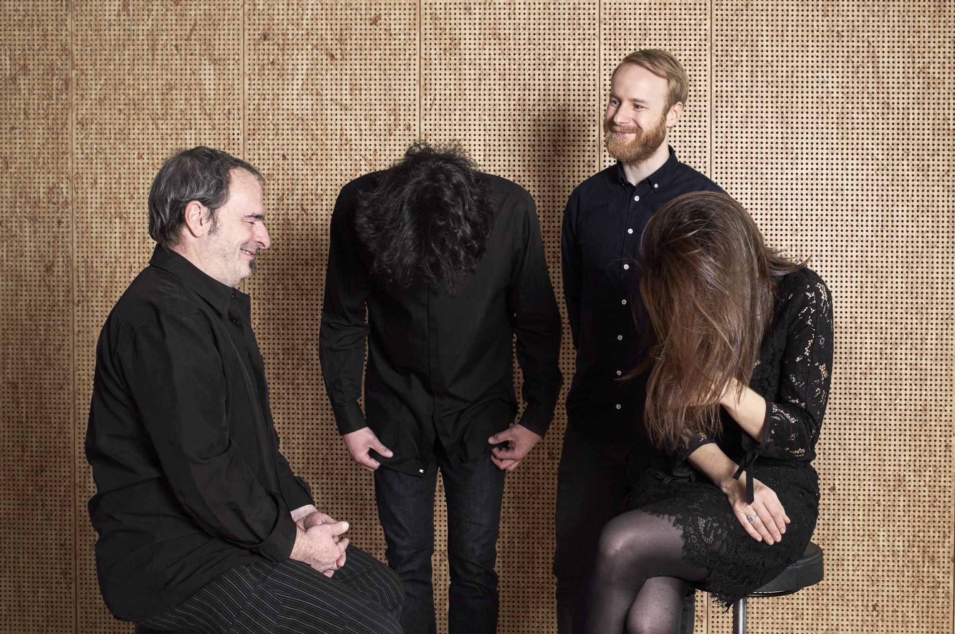 """Susanne Abbuehl / Matthieu Michel / Wolfert Brederode / Øyvind Hegg-Lunde """"The Gift"""", photograph by Gabrielle Besenval"""