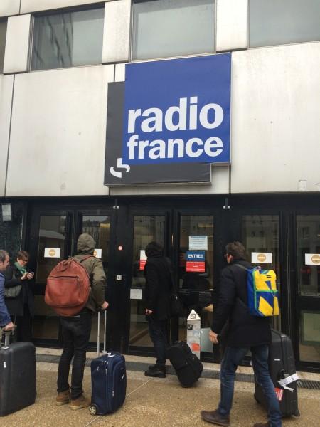arriving at Maison de la Radio