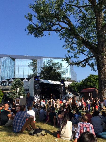students of the HEMU performing at Music In The Park, Montreux Jazz Festival